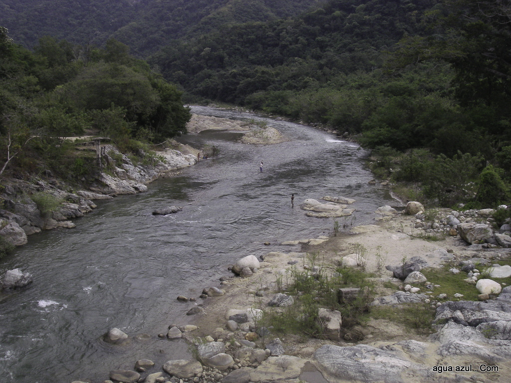 <b>Hamacas Put-in</b> <br/> Looking downstream from the bridge.